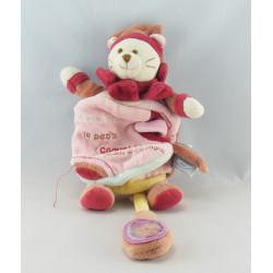 Doudou et compagnie livre chat Minouchette Bordeaux rose