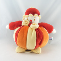 Doudou musical Clown rouge orange Sucre d'orge