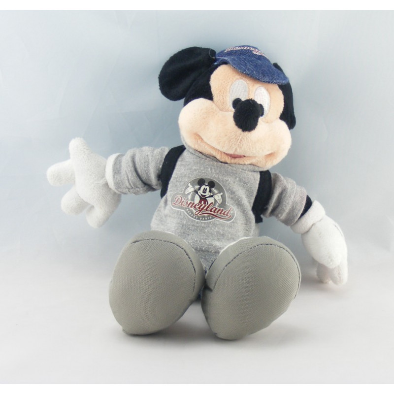 Peluche Mickey en jean I love you DISNEYLAND RESORT