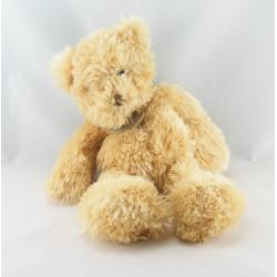 Doudou ours écru beige tout doux BABY NAT