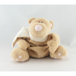 Doudou ours beige écharpe rose JOLLYBABY
