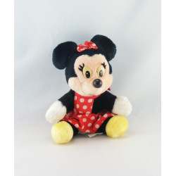 Ancienne Peluche Minnie robe rouge à pois DISNEYLAND