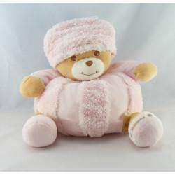 Doudou ours blanc neige bonnet Russe TAKINOU