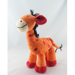 Doudou Girafe orange saumon NICOTOY
