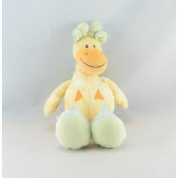 Doudou Girafe jaune bleu avec formes NATTOU