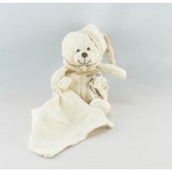Doudou bio plat ours blanc Baby nat
