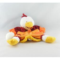 Doudou et compagnie plat coussin coq poule Poupilou