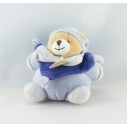 Doudou et compagnie ours noeuds bleu pantin