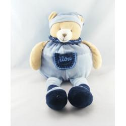 Doudou et Compagnie ours Filou bleu