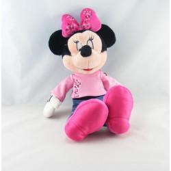 Peluche Minnie l'amie de Mickey pull rose et jean DISNEYLAND RESORT
