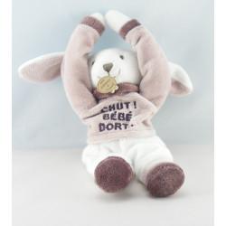 Doudou et compagnie ours rayé beige Chut bébé dort Chambre de..