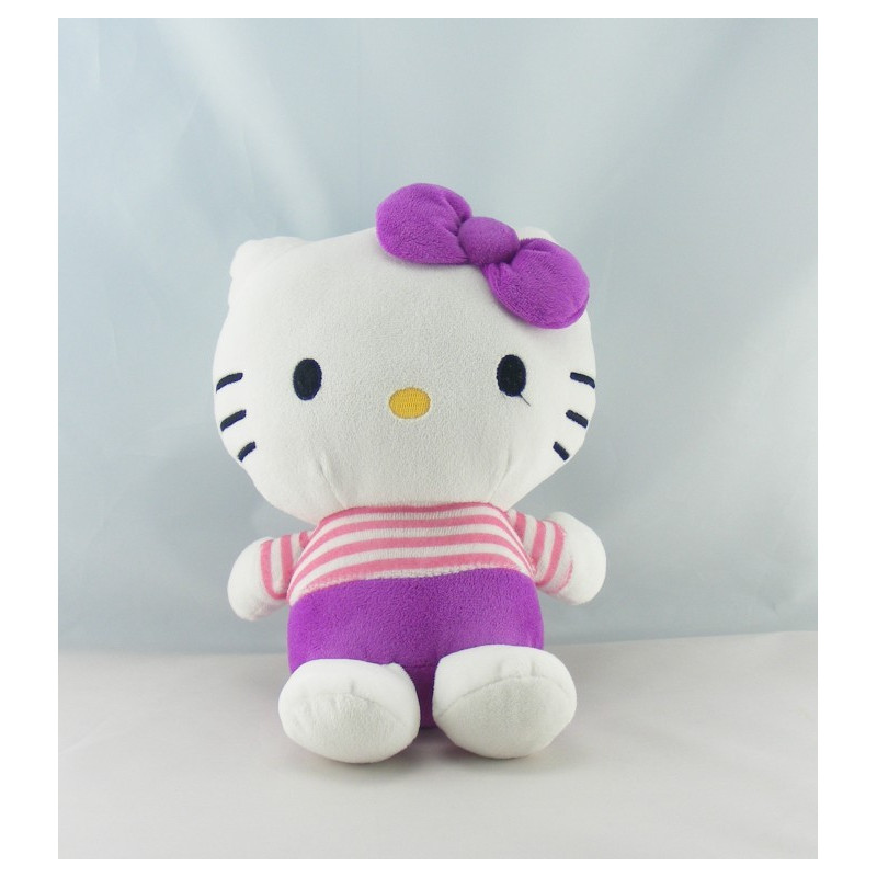 Doudou chat HELLO KITTY violet orange SANRIO LICENSE