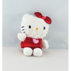 Peluche chat HELLO KITTY rouge sac SANRIO LICENSE