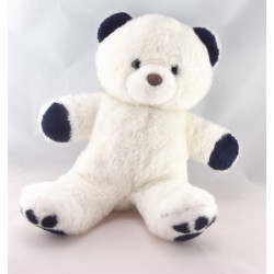 Doudou ours blanc rouge NOUNOURS