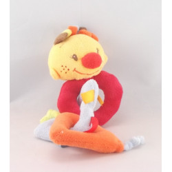 Doudou Billy et Babette rouge orange NATTOU
