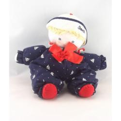 Doudou poupée chiffon garçon bleu bateau marin COROLLE