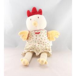 Doudou coq poule blanche COROLLE