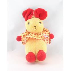 Doudou souris rouge jaune fraises NOUNOURS