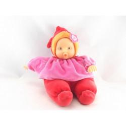 Doudou bébé poupée Baby Pouce rouge rose COROLLE 2004