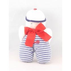Doudou poupée chiffon garçon bleu marin COROLLE