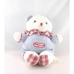 Doudou boule hérisson blanc bleu carreaux bébé JACADI