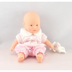 Poupée bébé rose avec mouchoir COROLLE