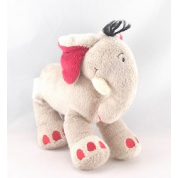 Doudou éléphant beige bleu KIABI