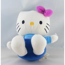 Doudou chat HELLO KITTY bleu noeud rose SANRIO LICENSE