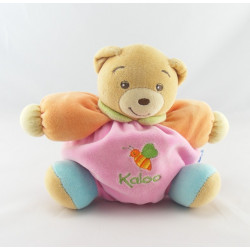 Doudou Ours patapouf rose orange bleu abeille KALOO