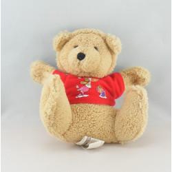 Doudou ours marron rouge ETAM