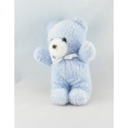 Doudou ours bleu coccinelle brodé NOUNOURS
