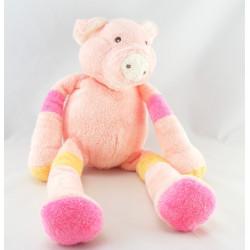 Doudou musical cochon rose jaune NOUNOURS