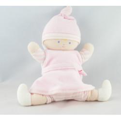 Doudou lutin bébé tenue rayé rose COROLLE