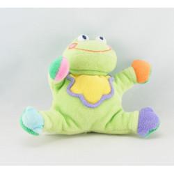 Doudou grenouille verte jaune JOLLYBABY
