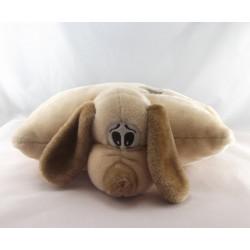 Doudou coussin chien bleu coeur NICOTOY