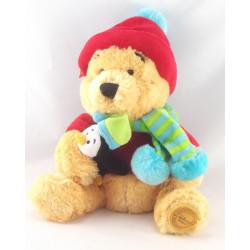 Doudou Winnie l'ourson déguisé Noël Grelot DISNEY
