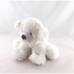 Doudou peluche lumineuse ours blanc LUMICALIN 40 cm