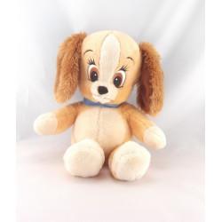 Doudou peluche bébé Belle chien de La Belle et le Clochard Disney