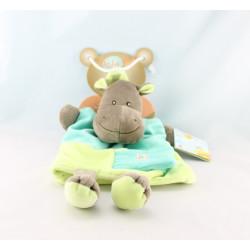 Doudou plat marionnette H comme Hippopotame BABY NAT