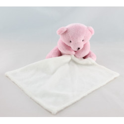 Doudou plat ours rose mouchoir copain de calin