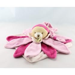 Doudou et compagnie collector ours fleur pétale rose