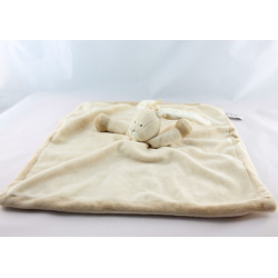 Doudou chien blanc nez marron TEDDYKOMPANIET