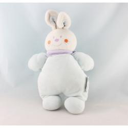 Doudou lapin bleu mauve INFLUX