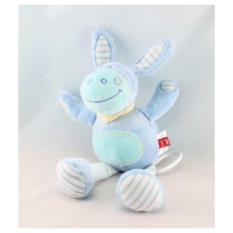 Doudou ane cheval lapin bleu TEX