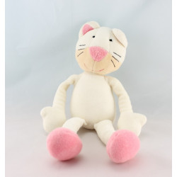 Doudou chat rose rouge pois BABYSUN