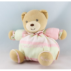 Doudou bébé ours pull vichy bleu couche KALOO