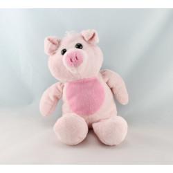 Doudou cochon rose marron NICOTOY