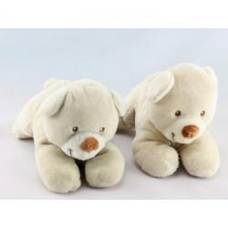 Doudou ours beige couché TEX