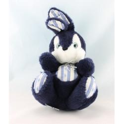 Doudou lapin bleu marine TARTINE ET CHOCOLAT