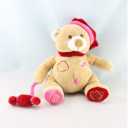 Doudou ours brun pull beige BABY NAT